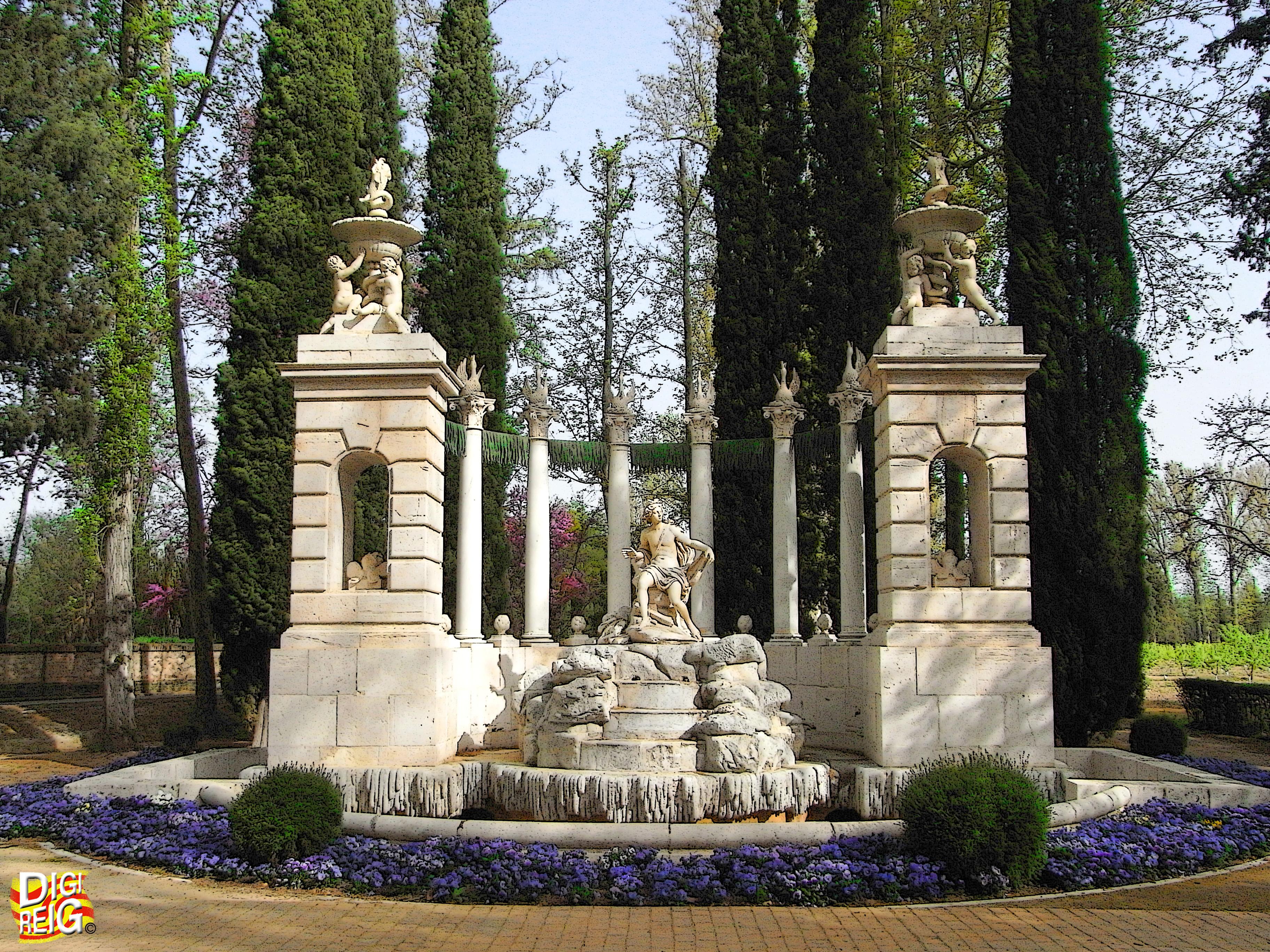Foto jard n del pr ncipe 06 fuente de apolo aranjuez madrid espa a - Jardin del principe aranjuez ...