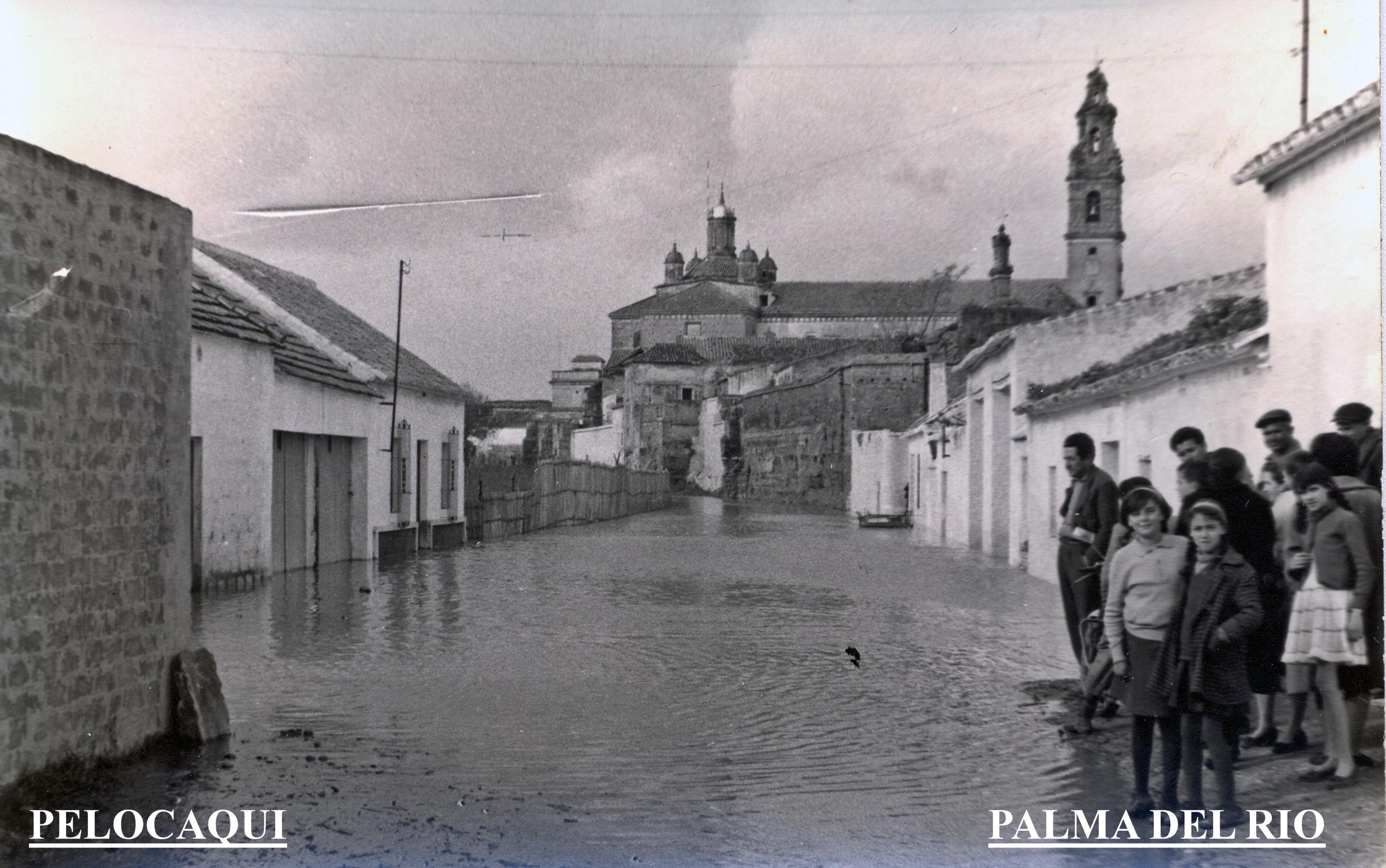 Foto el rio en la calle del rio seco 1963 palma del rio for Calle palma del rio malaga
