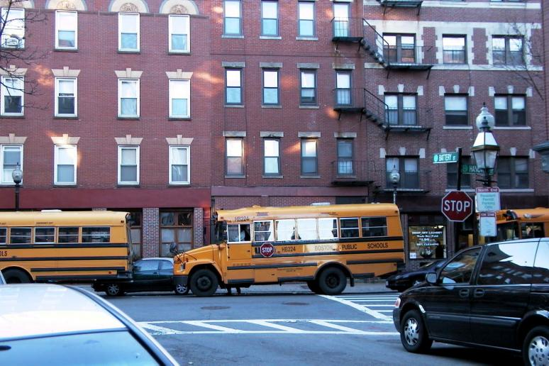 Foto: Autobuses escolares - Boston (Massachusetts), Estados Unidos