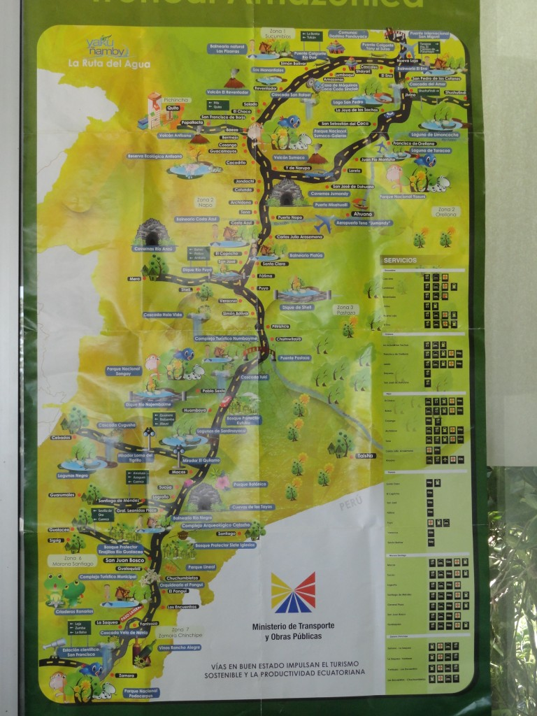 Foto mapa vial puyo pastaza ecuador for Ministerio del interior ubicacion mapa